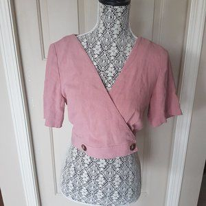 Top Shop Dusty Pink Open Back Top